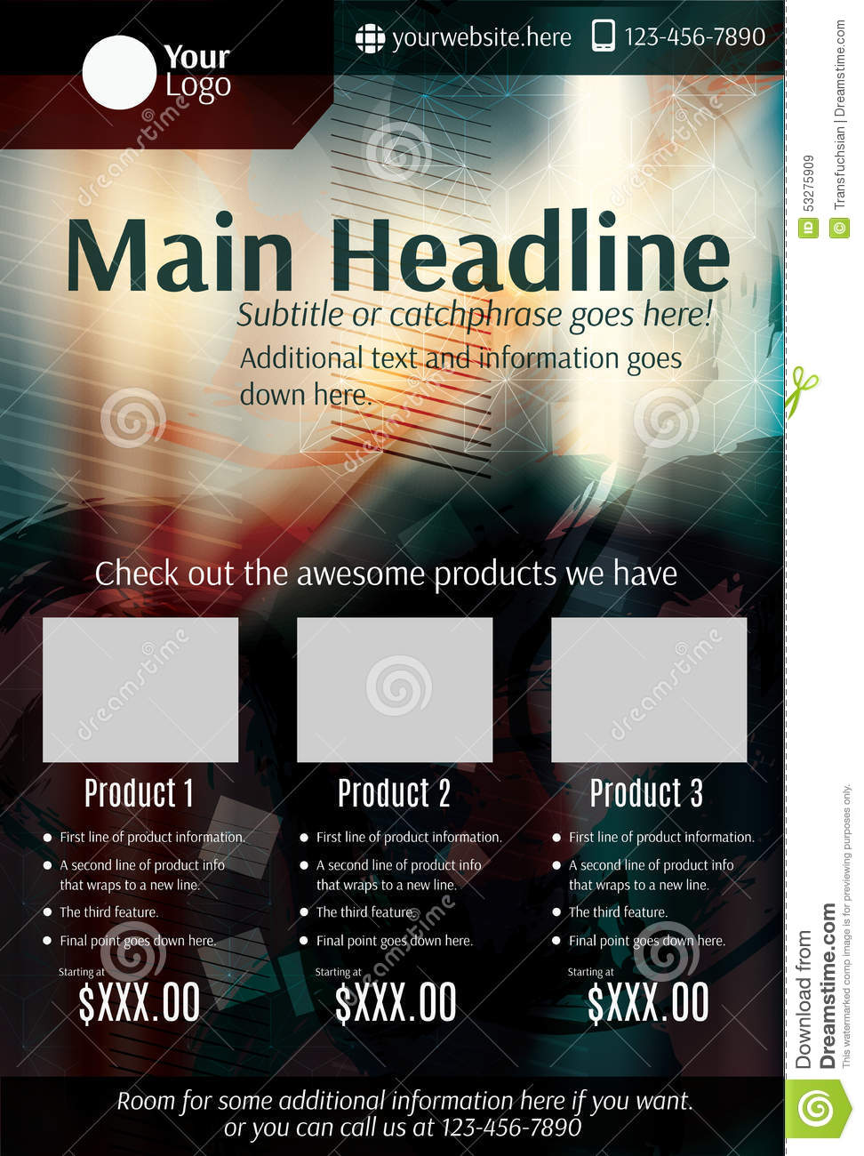 dark grunge product flyer or poster template stock vector image dark grunge product flyer or poster template