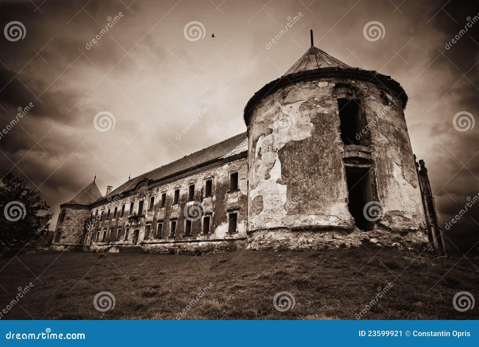 Dark haunted castle