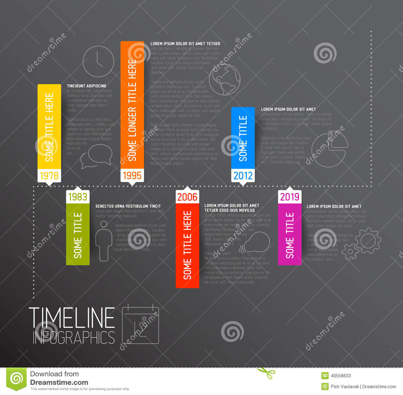 how to see label colors on timeline