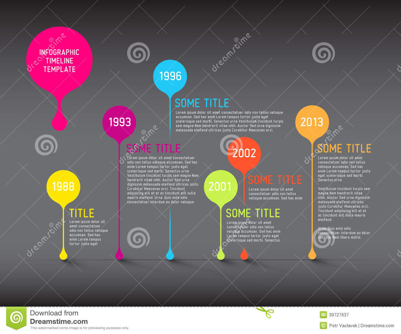 Free timeline infographic templates