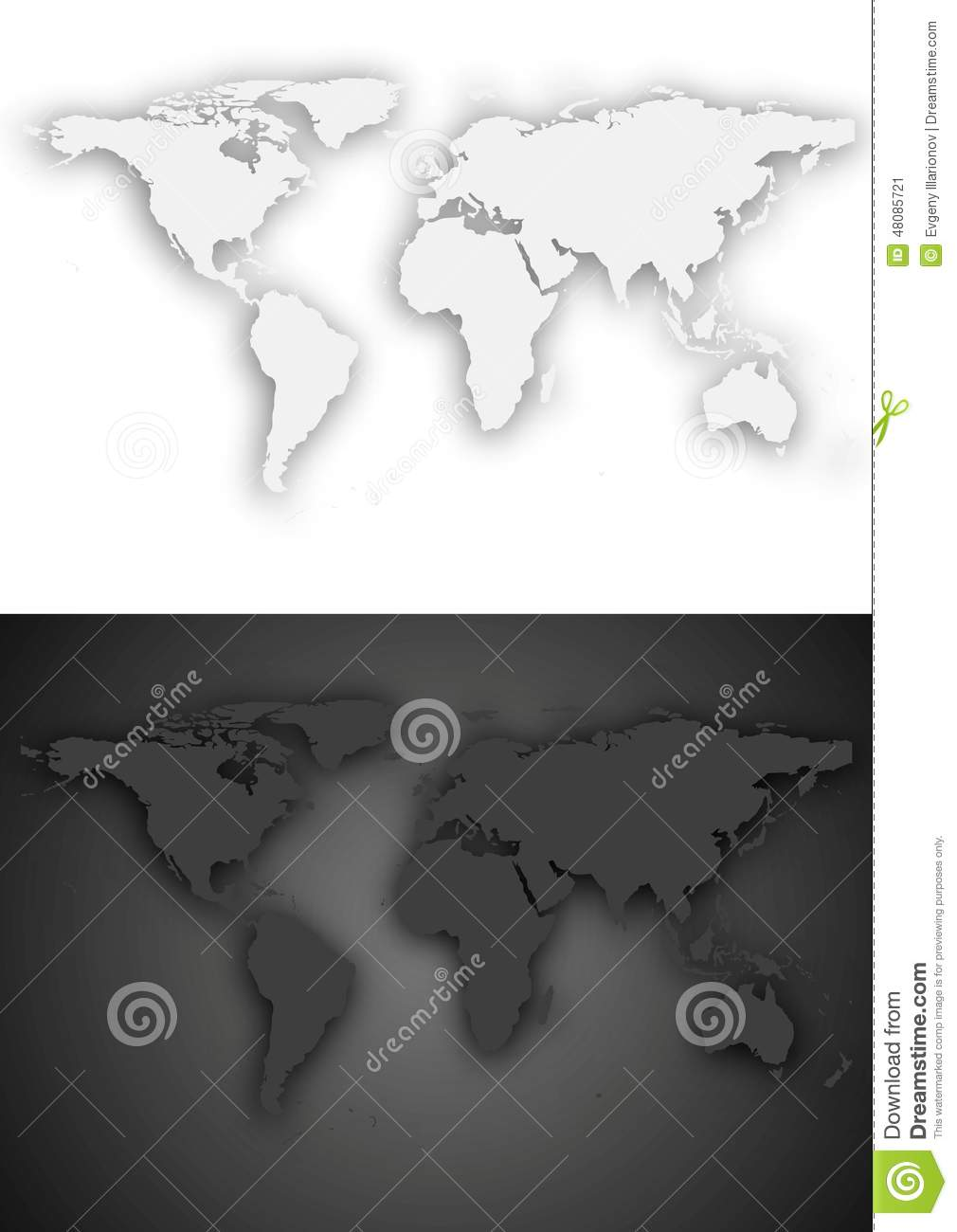 Dark and light grey vector world map design stock vector dark and light grey vector world map design gumiabroncs Choice Image
