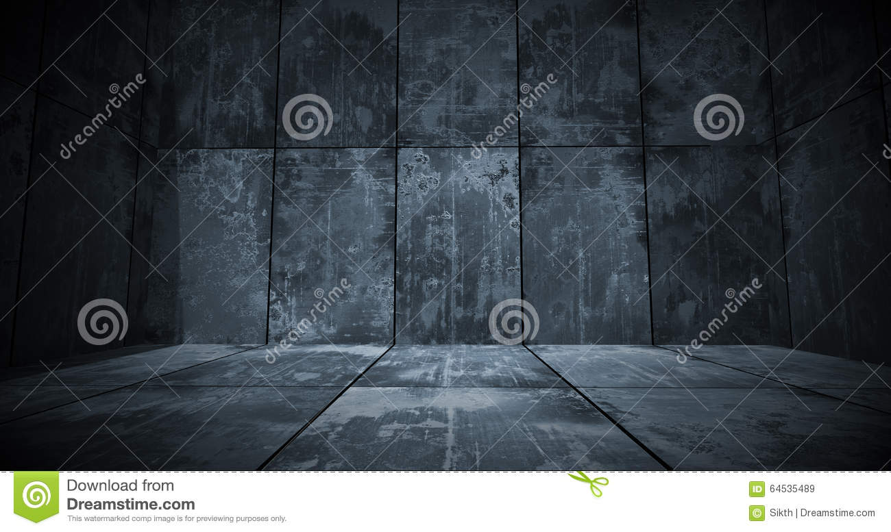 Dark Metal Room Background Stock Photo Image 64535489