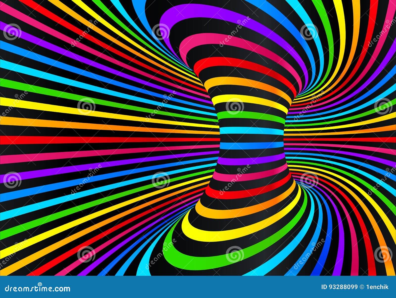Dark neon rainbow colors vector abstract disco background