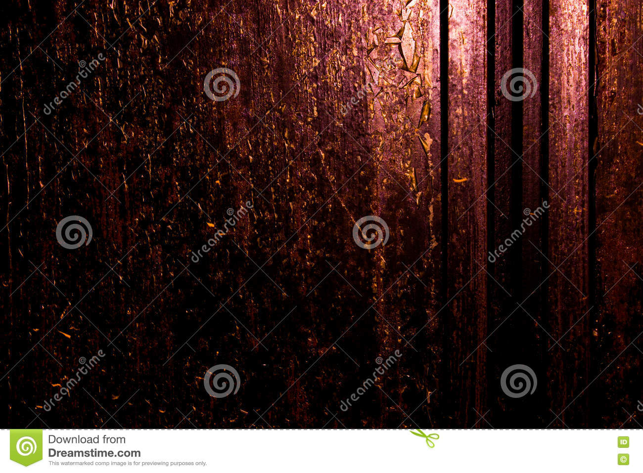 dark old scary rusty rough golden and copper metal surface texturebackground for halloween or haunted house games backgroundtexture of wall