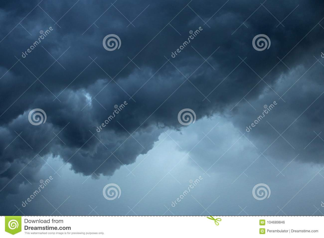 LOW HANGING STORM CLOUDS