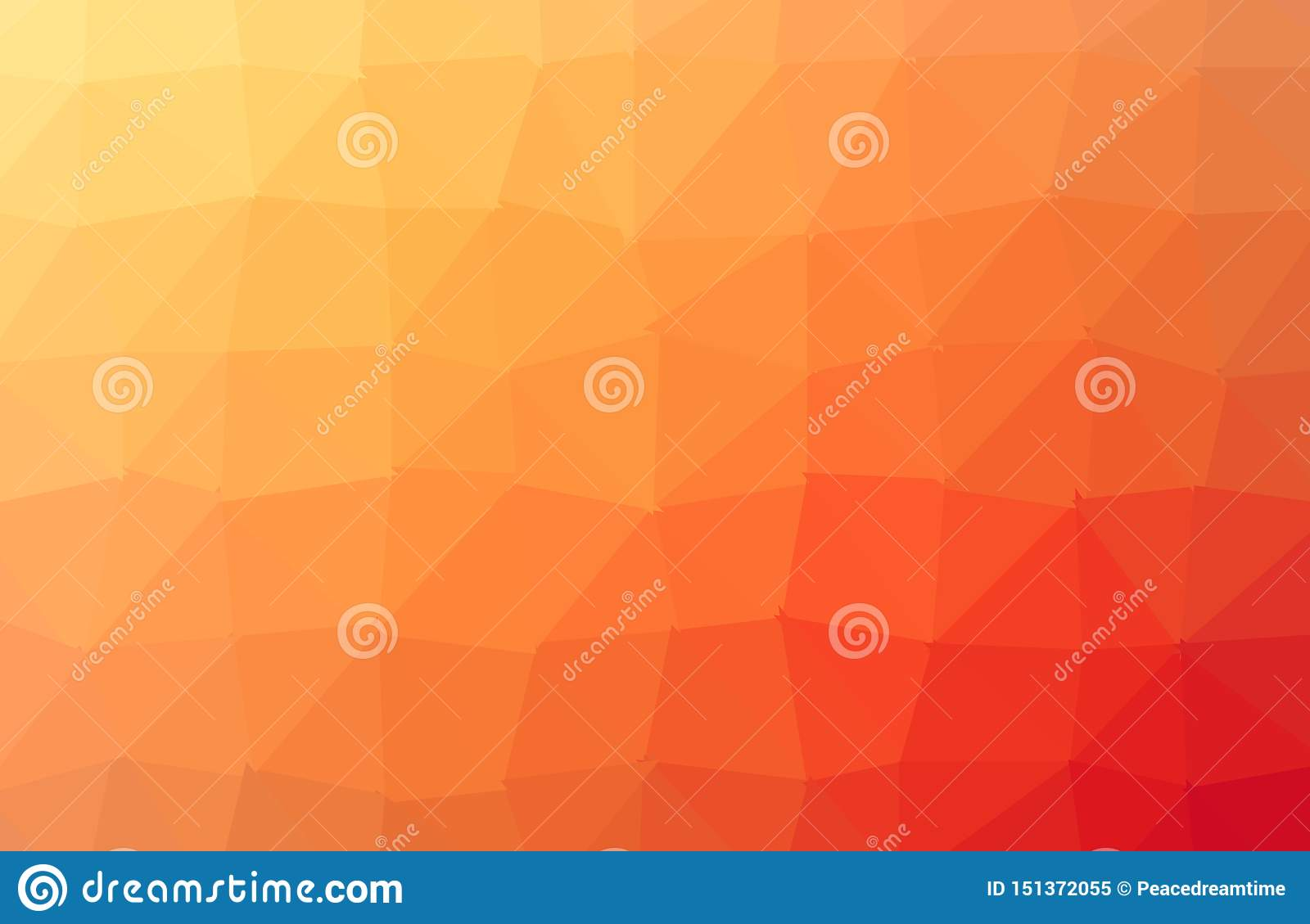Dark Orange polygonal illustration, which consist of triangles. Triangular design for your business. Creative geometric background