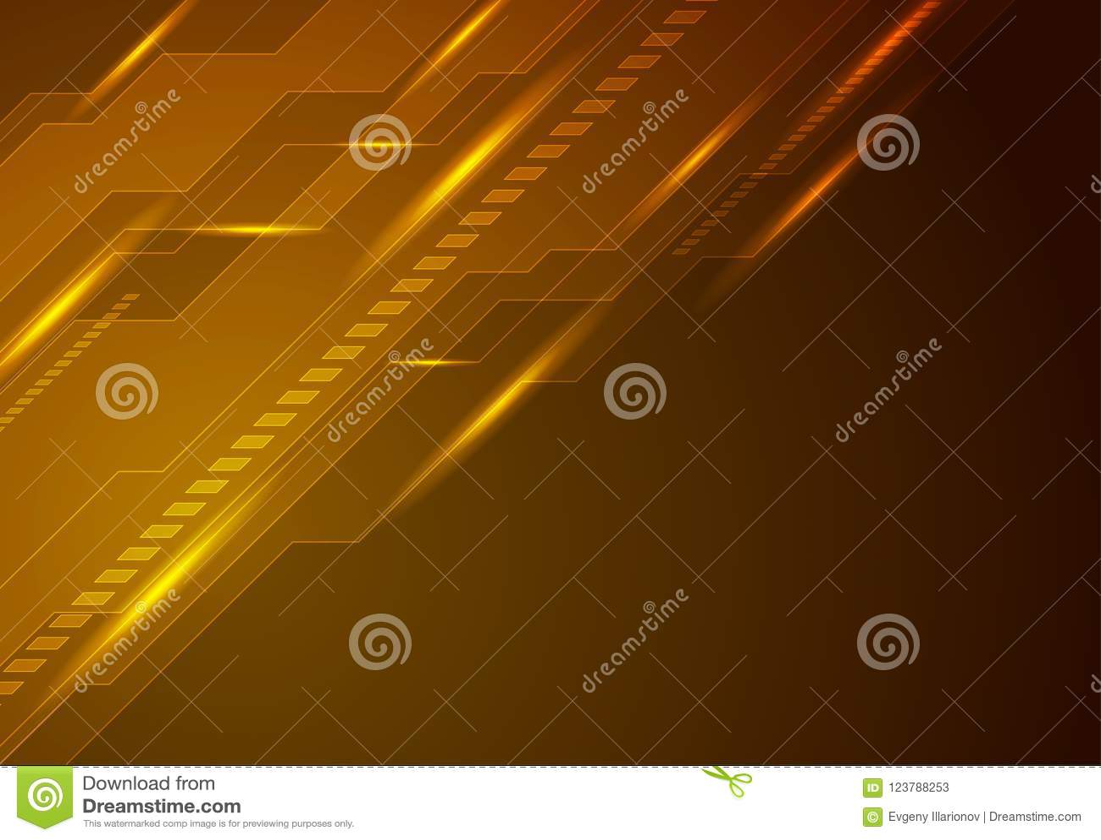 dark orange technology futuristic background stock vector