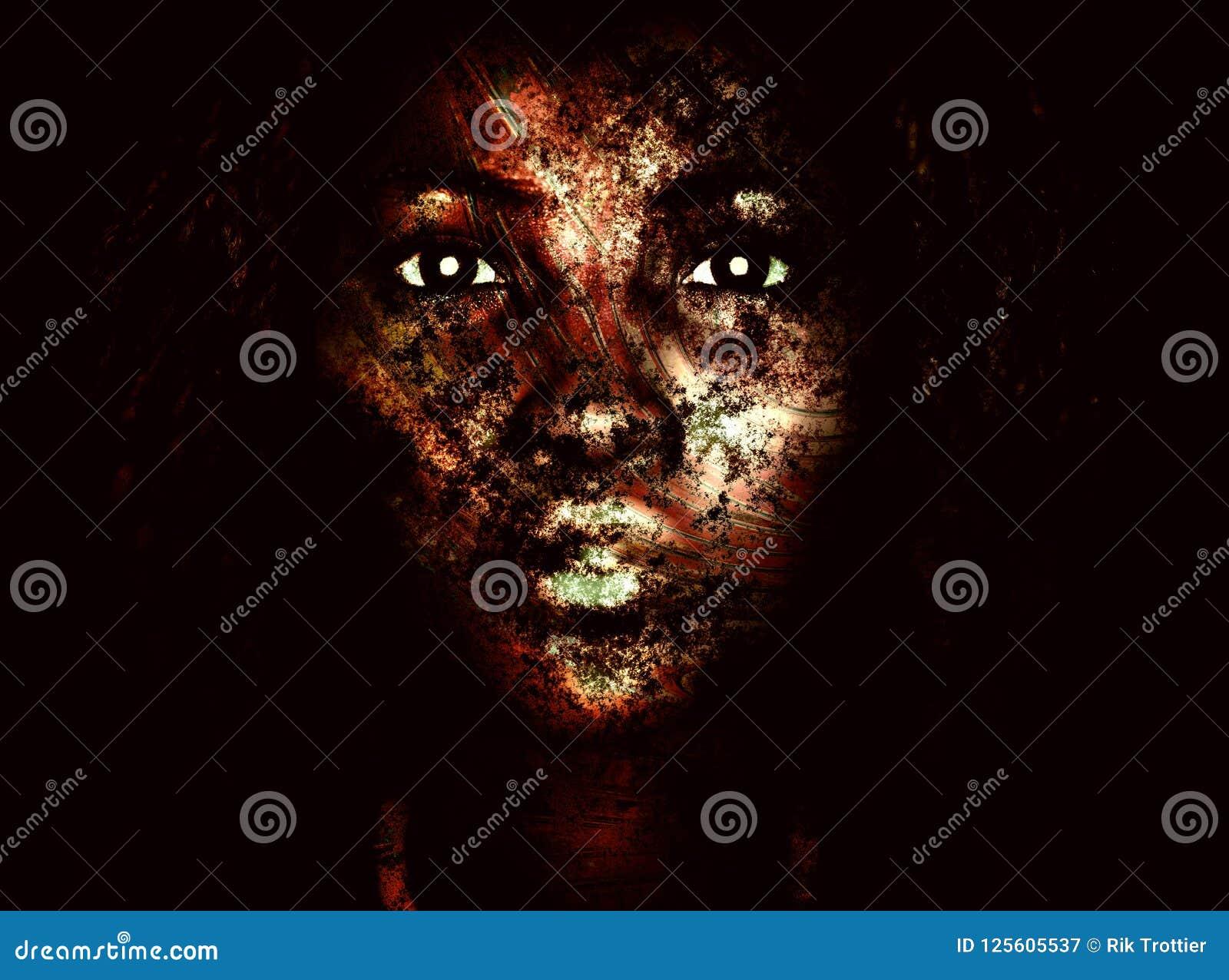 Dark Painted Face Stock Illustration Illustration Of Bully