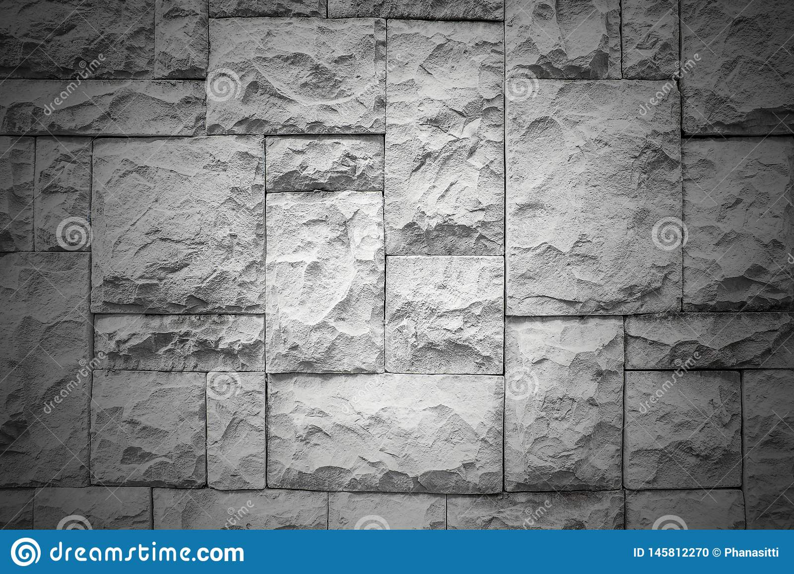 Dark Pattern Of Decorative White Slate Stone Wall Surface