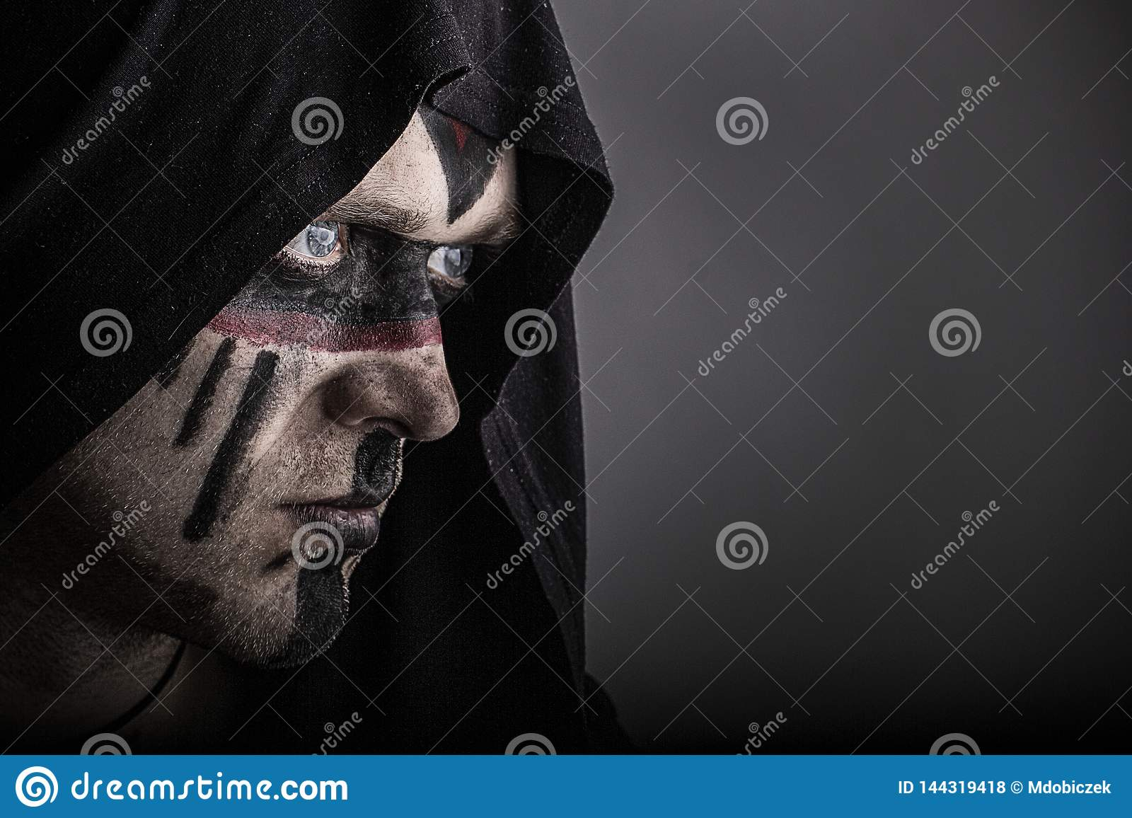 The shaman`s look stock photo  Image of face, rite, paganism