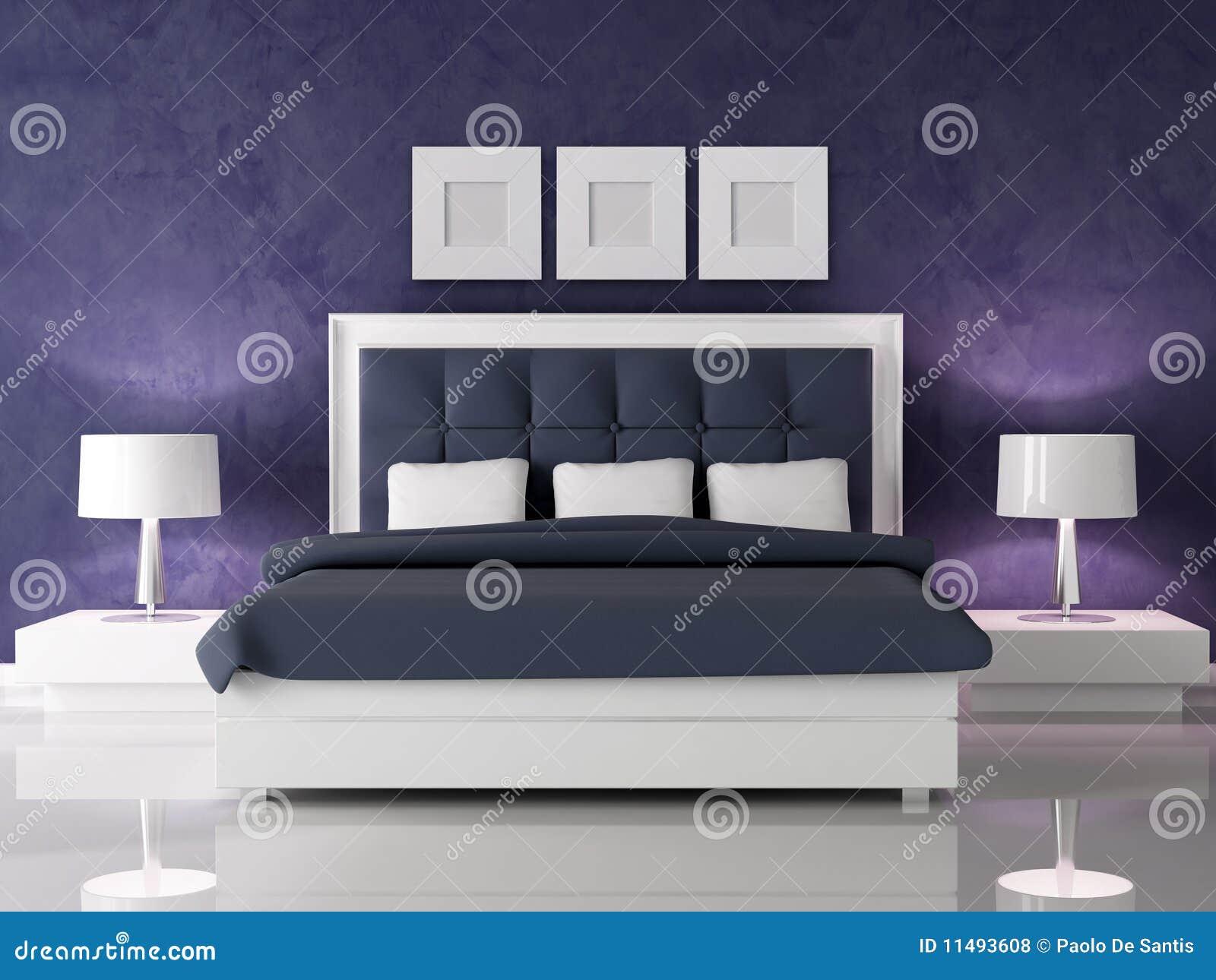 Dark Purple Bedroom Royalty Free Stock Photos Image