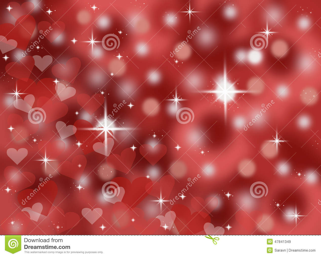 b99dc7f3008 Dark red abstract bokeh valentines day card background illustration with  sparkles and stars stock illustration