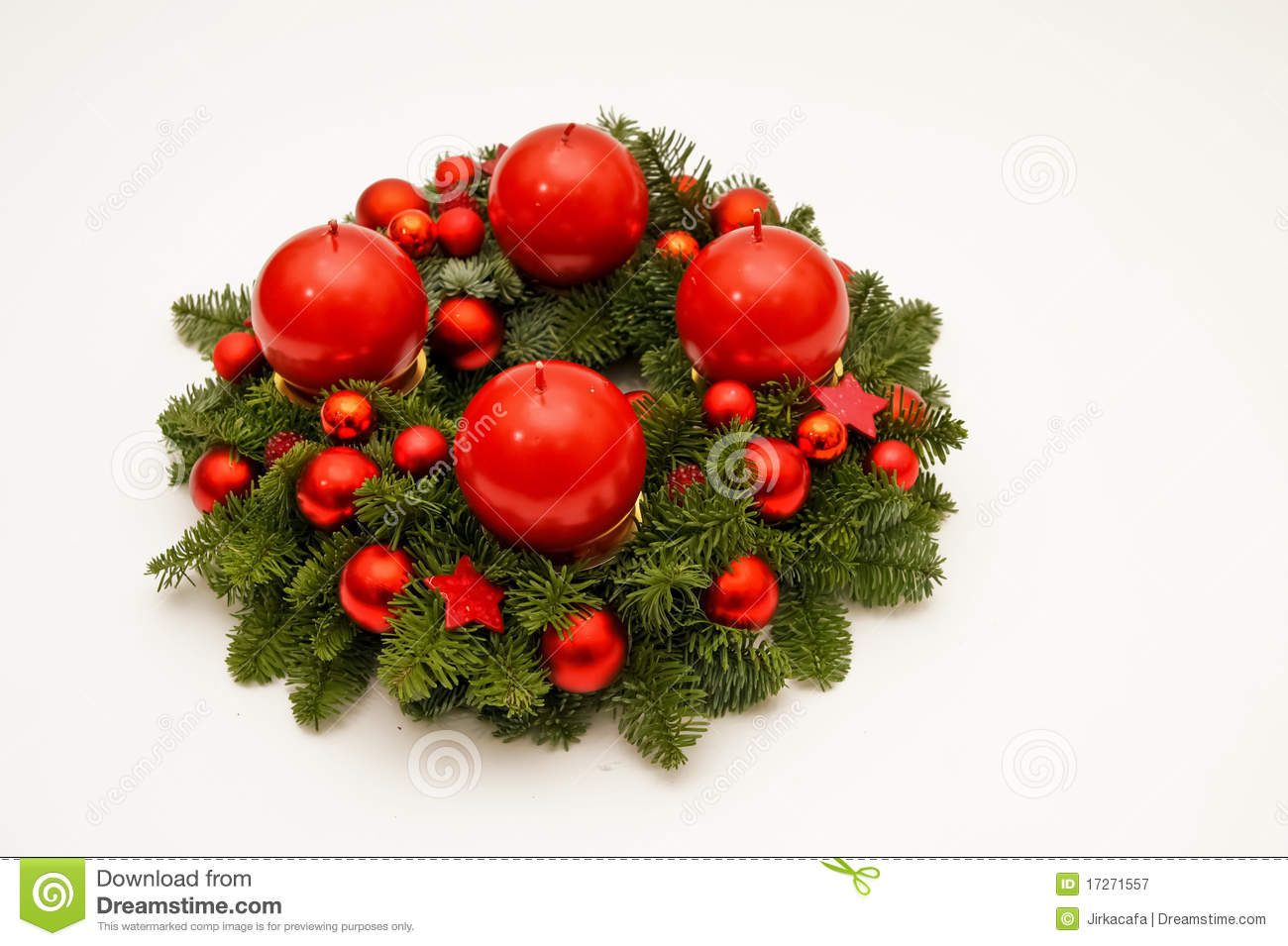 Advent Wreath Decorations Dark Red Advent Wreath Royalty Free Stock Photography Image