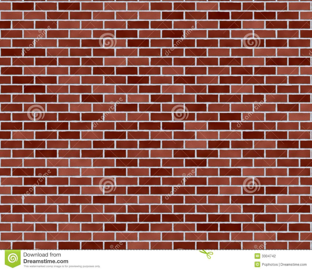 Dark Red Brick Background Stock Illustration Of