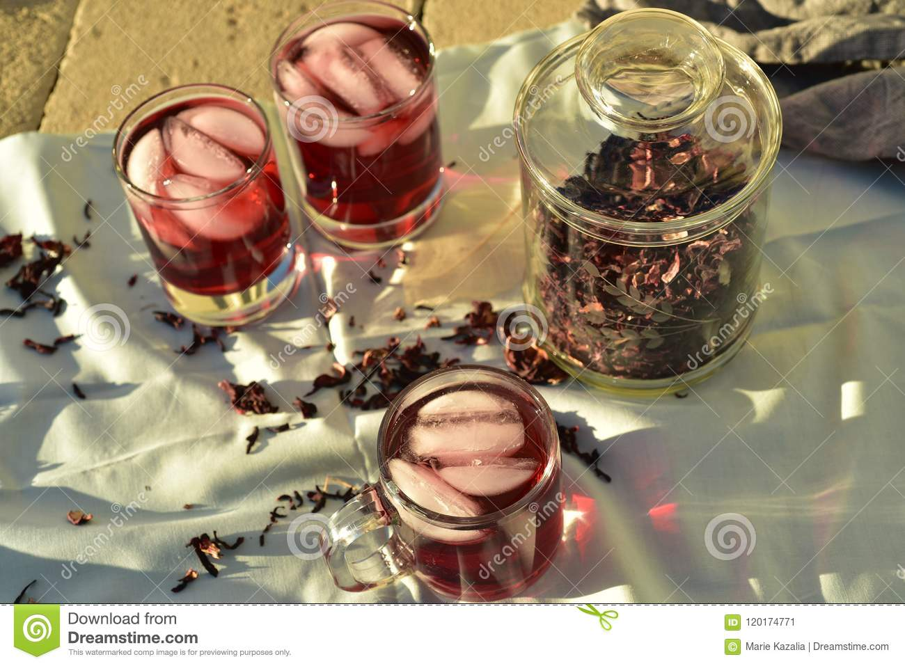 Iced tea made with dark red hibiscus flower petals stock image download iced tea made with dark red hibiscus flower petals stock image image of drink izmirmasajfo