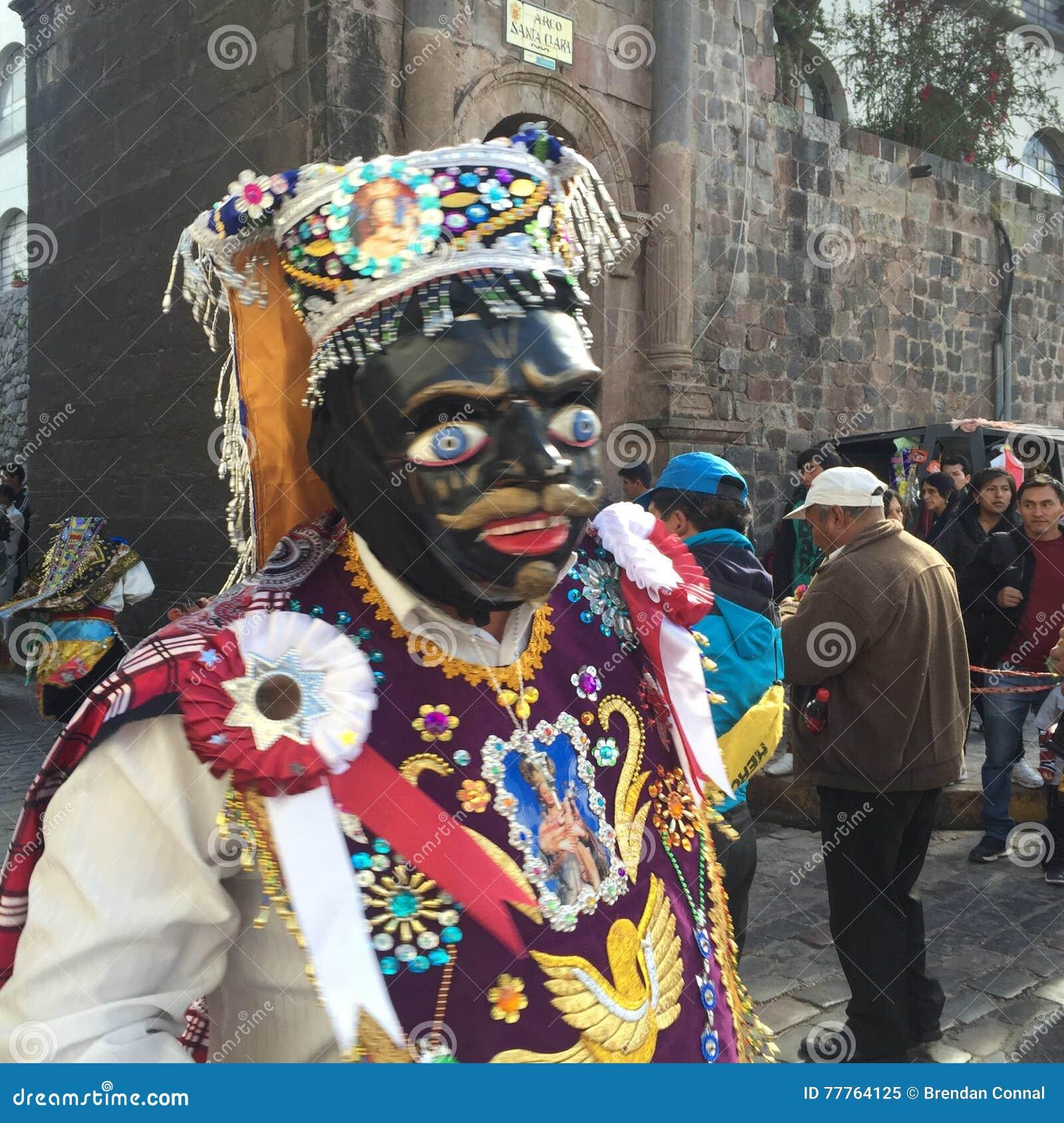 Dark Saints Parade In Cusco, Peru Editorial Image - Image of cusco