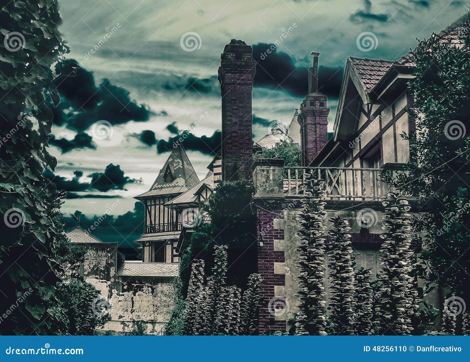 Dark Scene Medieval Style Houses