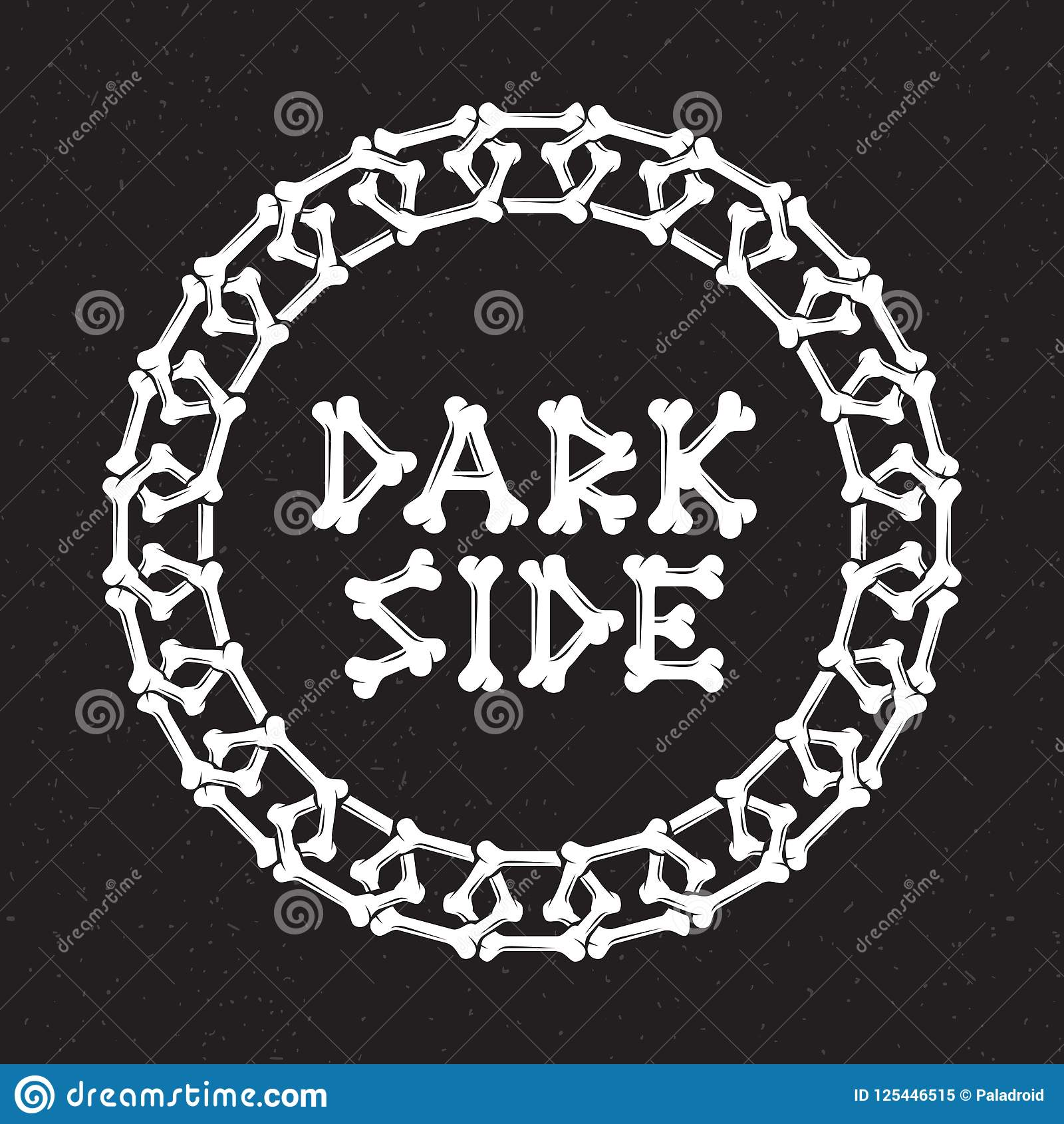 Dark Side Of A Chain Of Bones Stock Vector Illustration Of