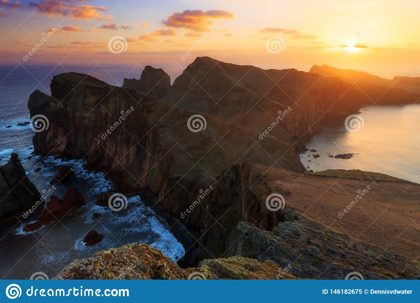 Dark sunrise Madeira