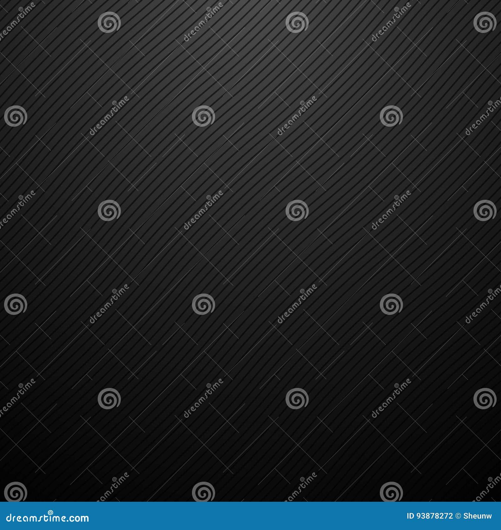 Dark vector abstract background. Wavy diagonal lines. Carbon texture.