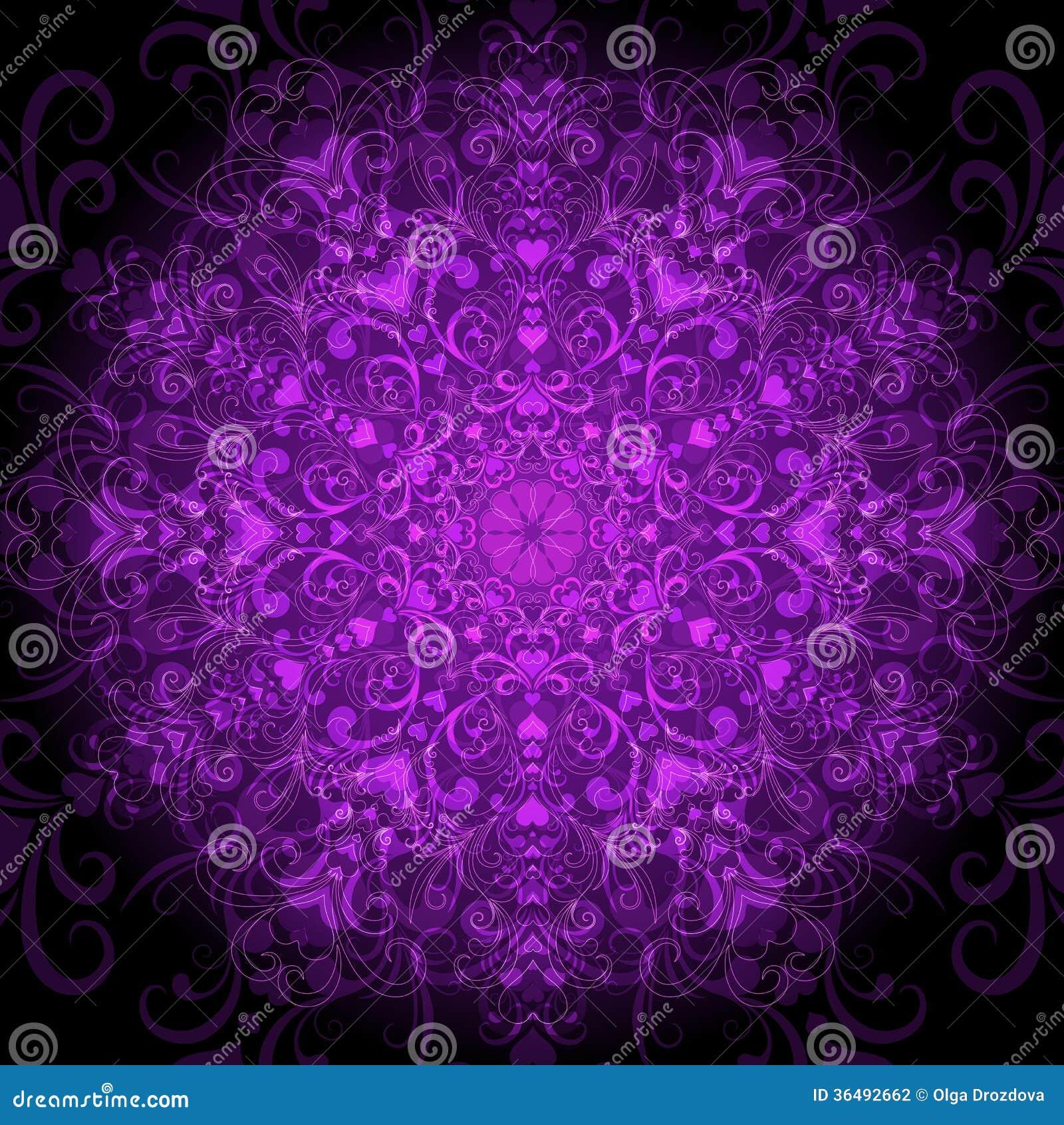 Dark Violet Round Pattern