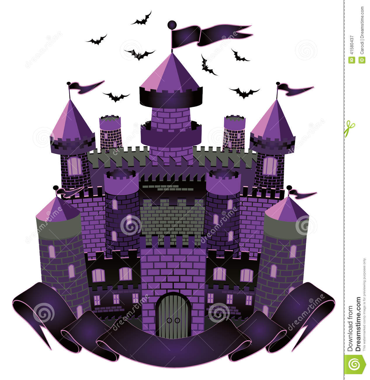 Dark Witch castle stoc...