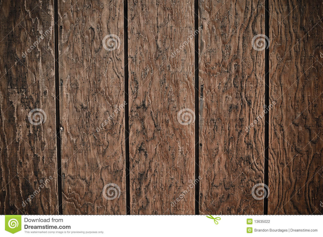 Dark Wood Plank Background