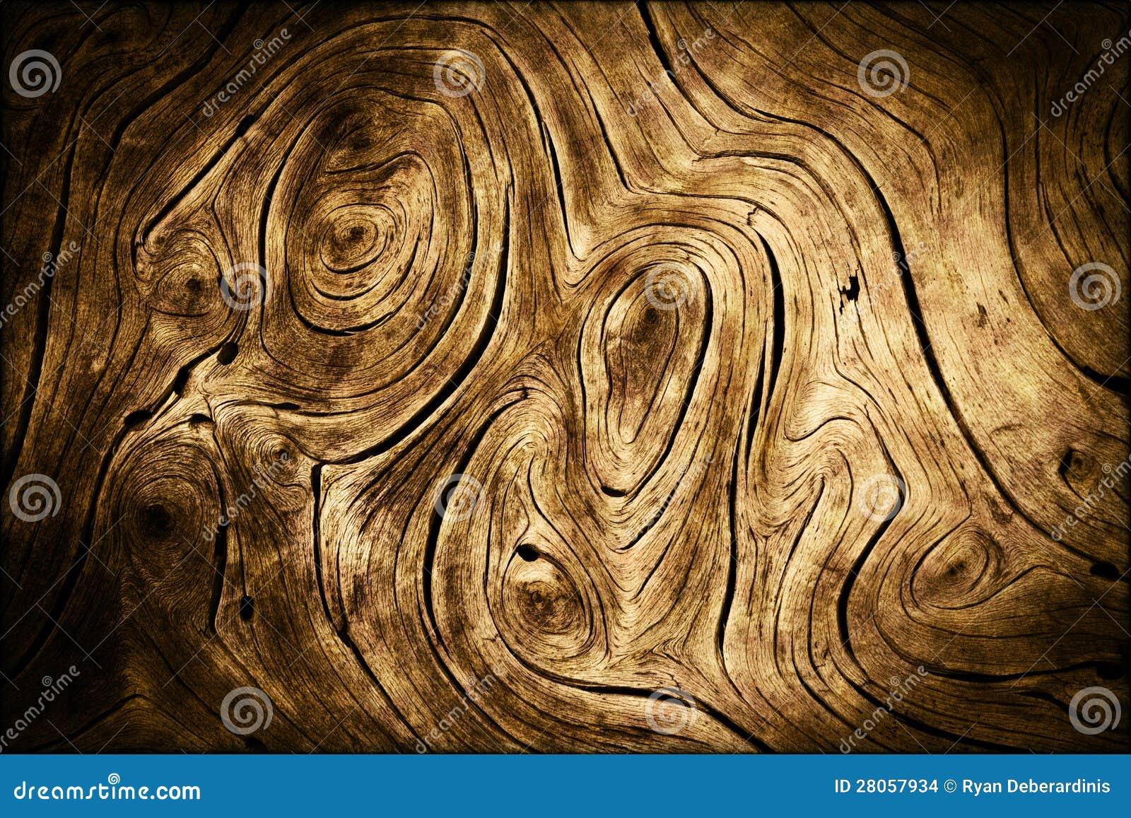 dark wood swirls organic background texture stock photo
