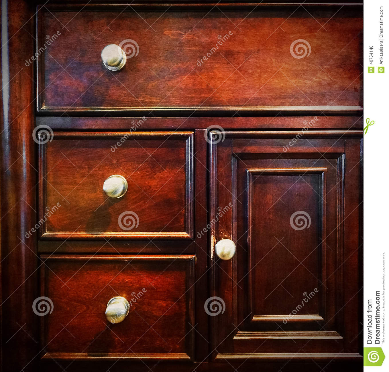 Dark Wooden Chest Of Drawers Stock Photo Image Of Drawers Antique