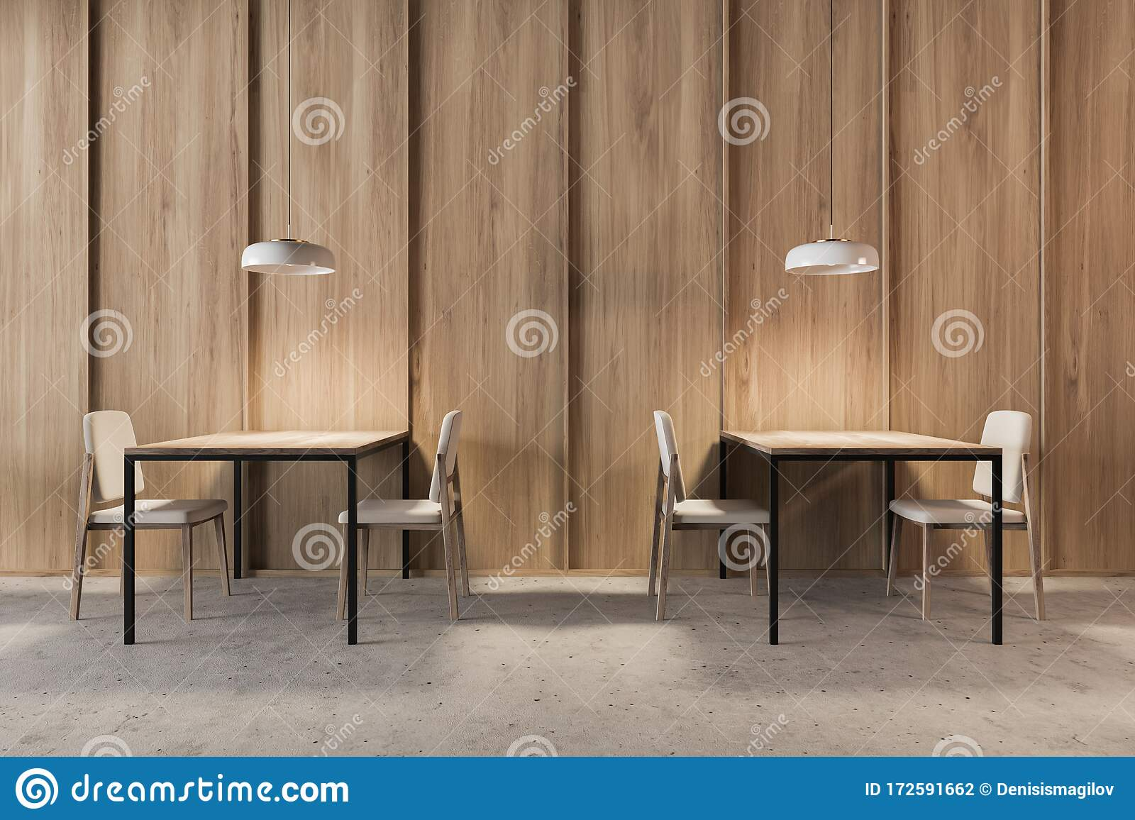 Picture of: Dark Wooden Industrial Style Cafe Interior Stock Illustration Illustration Of Decoration Ceiling 172591662