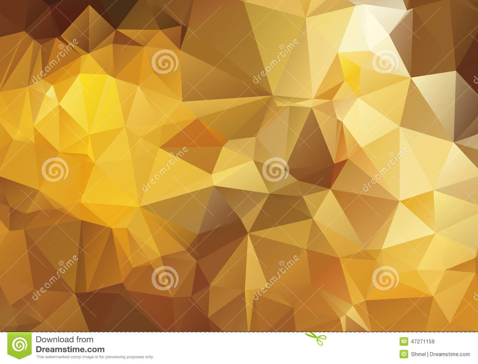 dark yellow abstract polygonal background stock