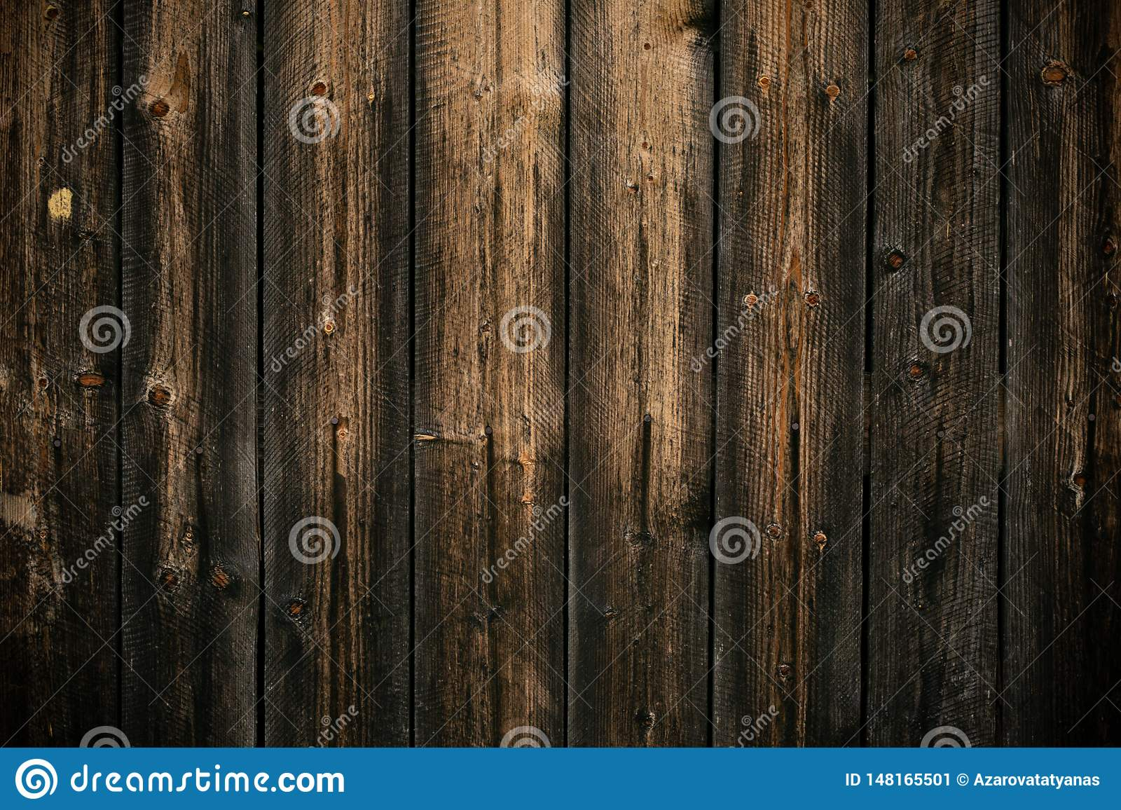 Dark yellow and gray shabby wood background. Old wall wooden vintage floor. Texture backdrop. Rough structure. Black yellow patter