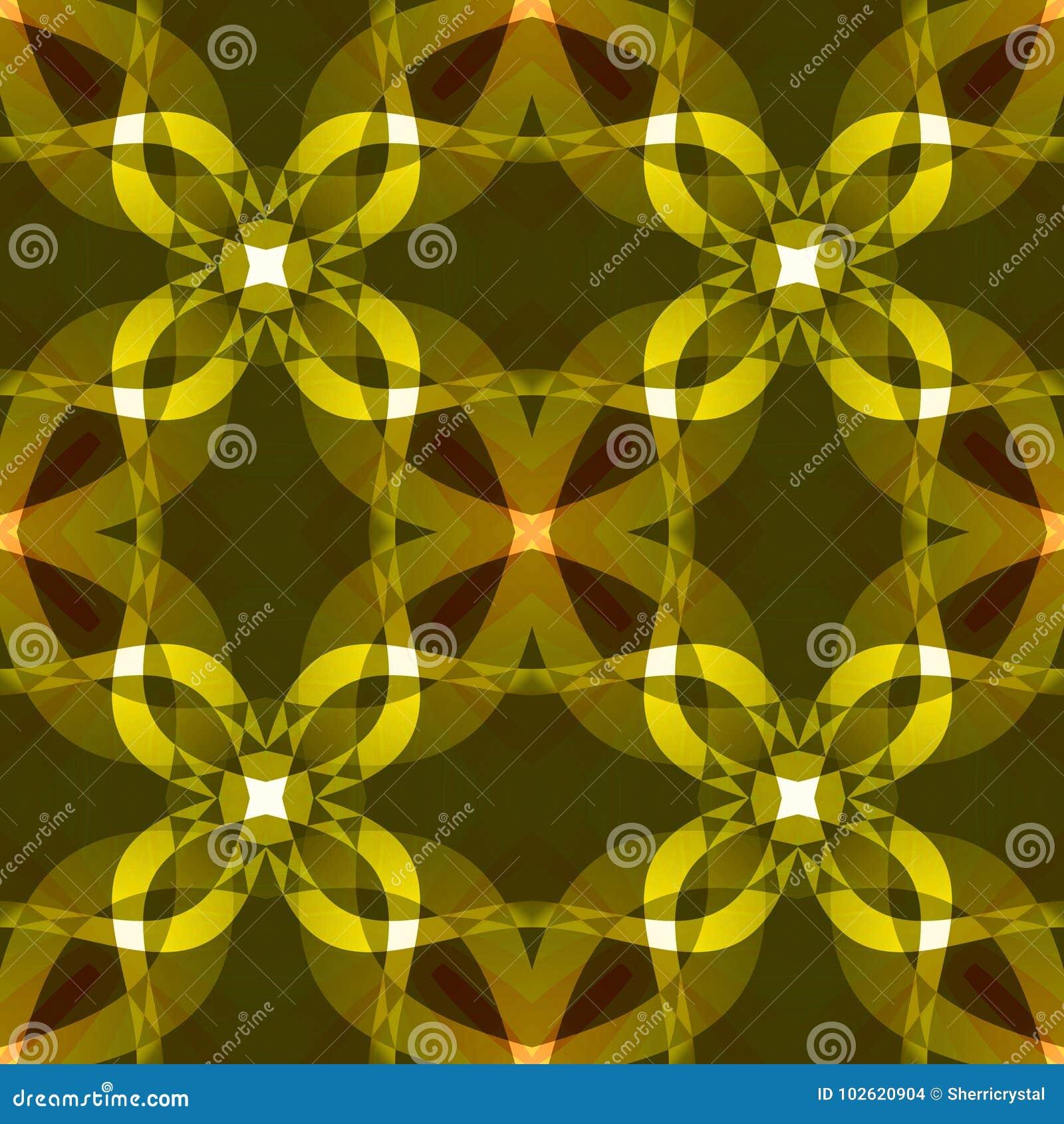 Dark Yellow Modern Abstract Texture Textile Print Pattern Detailed