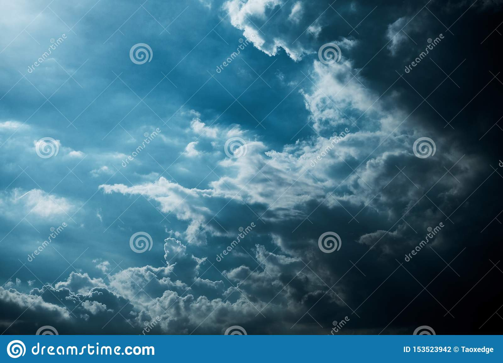 Darkness cloud background ,raining cloud
