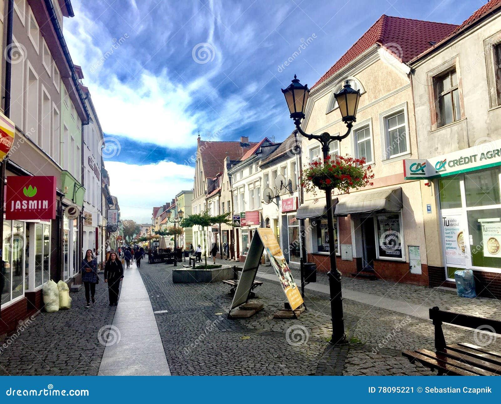 Darlowo main old town street