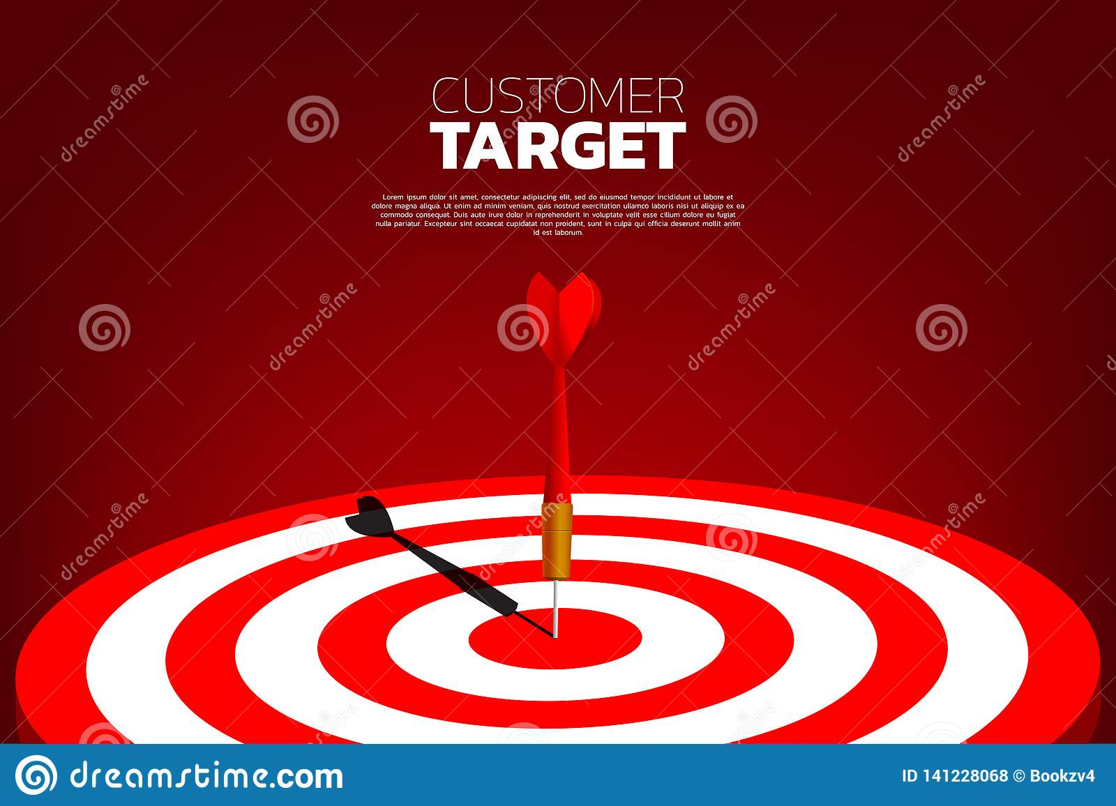 Arrow Vision Center >> Dart Arrow Hit The Center Of Dartboard Stock Illustration