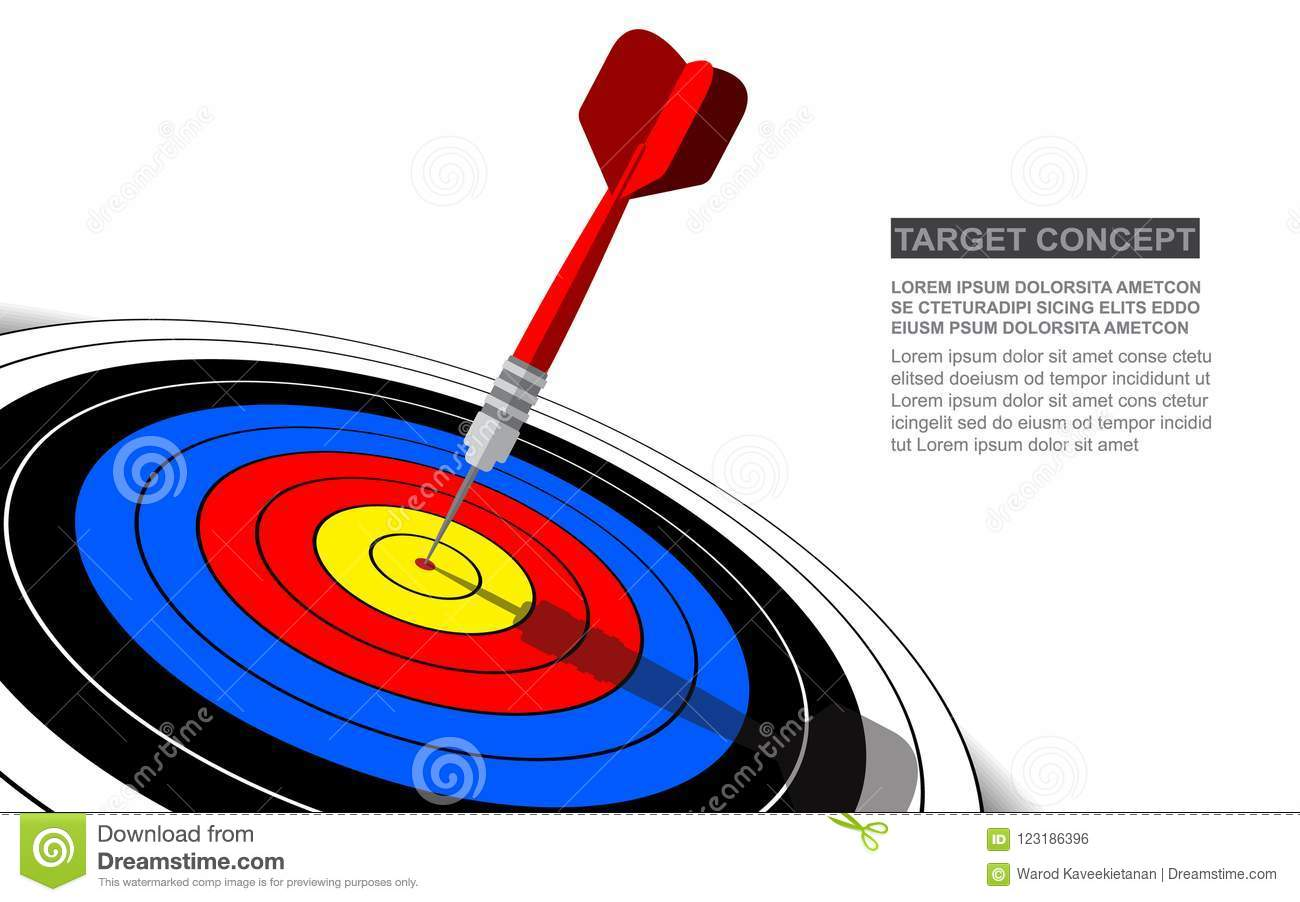 Dart board vector isolated template for business goal.