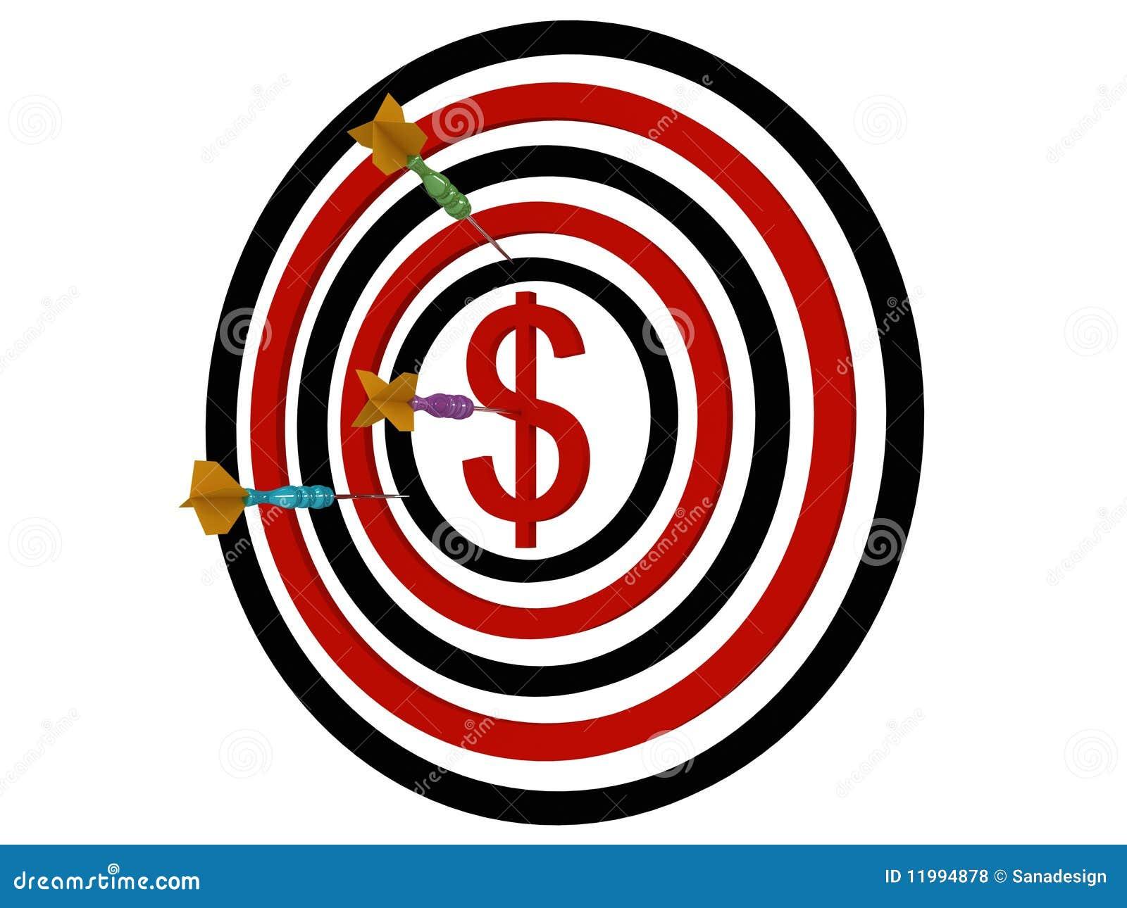 Dartboarden kasta sig dollaren