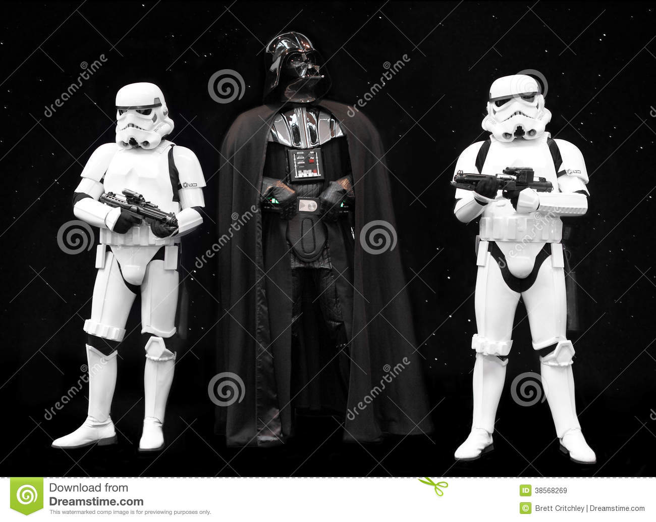 Darth Vader And Stormtroopers Star Wars Editorial Stock