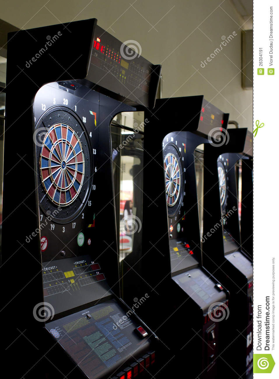 Download Darts boards in games area stock image. Image of bulls - 26304191
