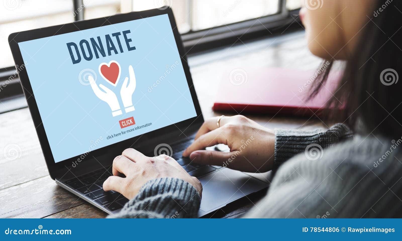 Daruje dobroczynność Daje pomocy ofiary wolontariusza pojęciu