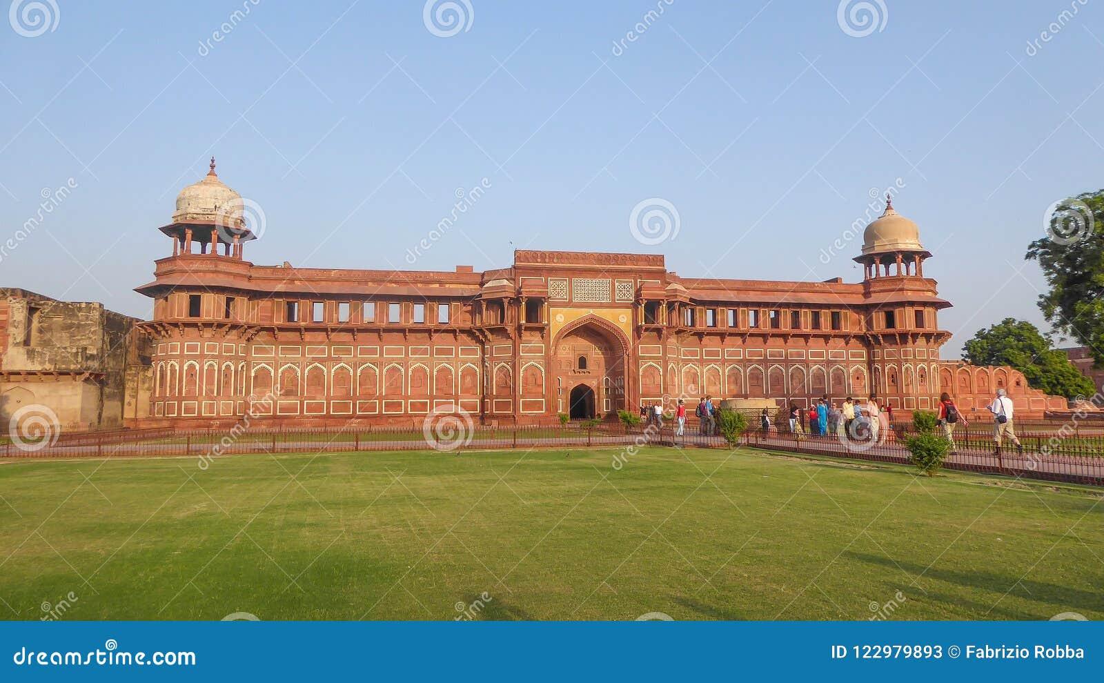 Das Agra-Fort ist eine UNESCO-Welterbestätte, die in Agra, Indien gelegen ist