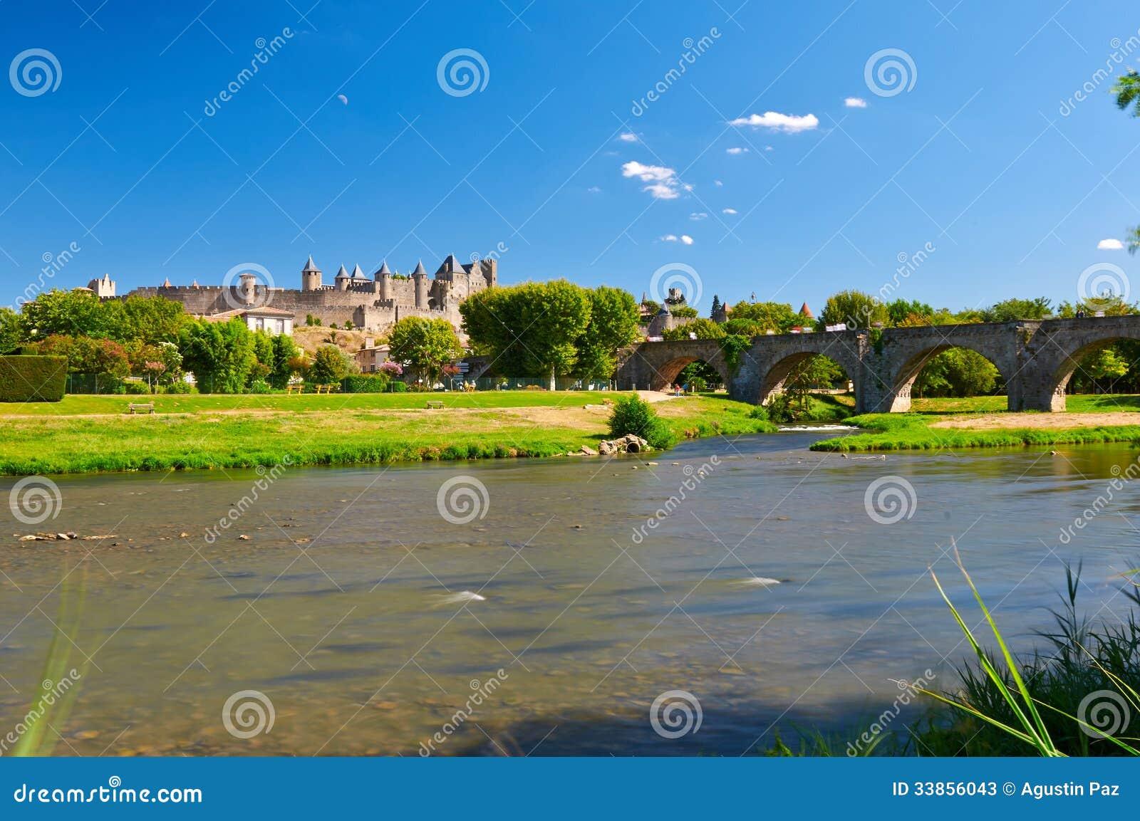 Das alte Citte von Carcassonne in Frankreich