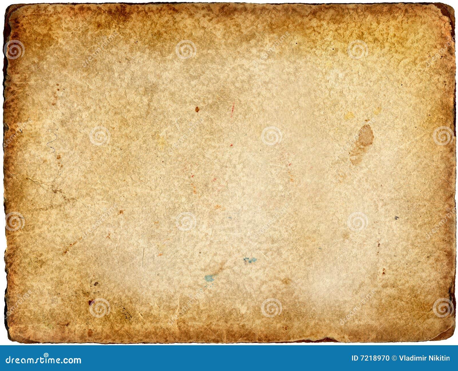 Das Alte Papier Stockfoto Bild 7218970