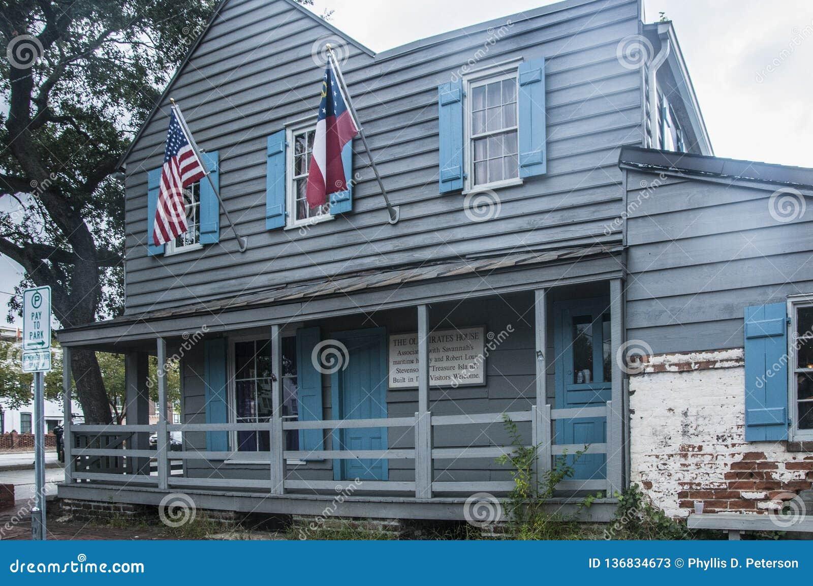 Das alte Piraten-Haus, Savanne, Georgia