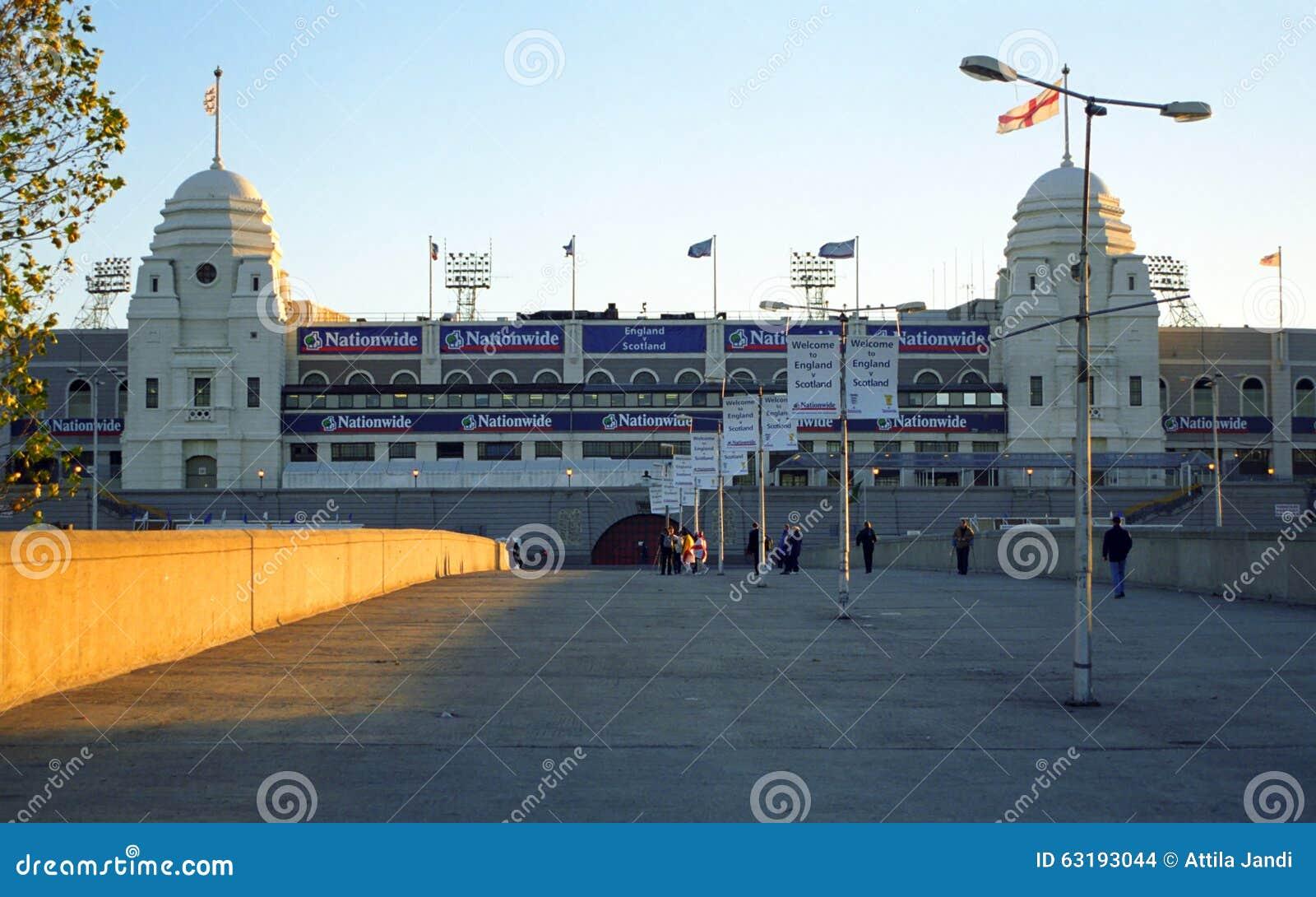 Das alte Wembley Stadium, London, England