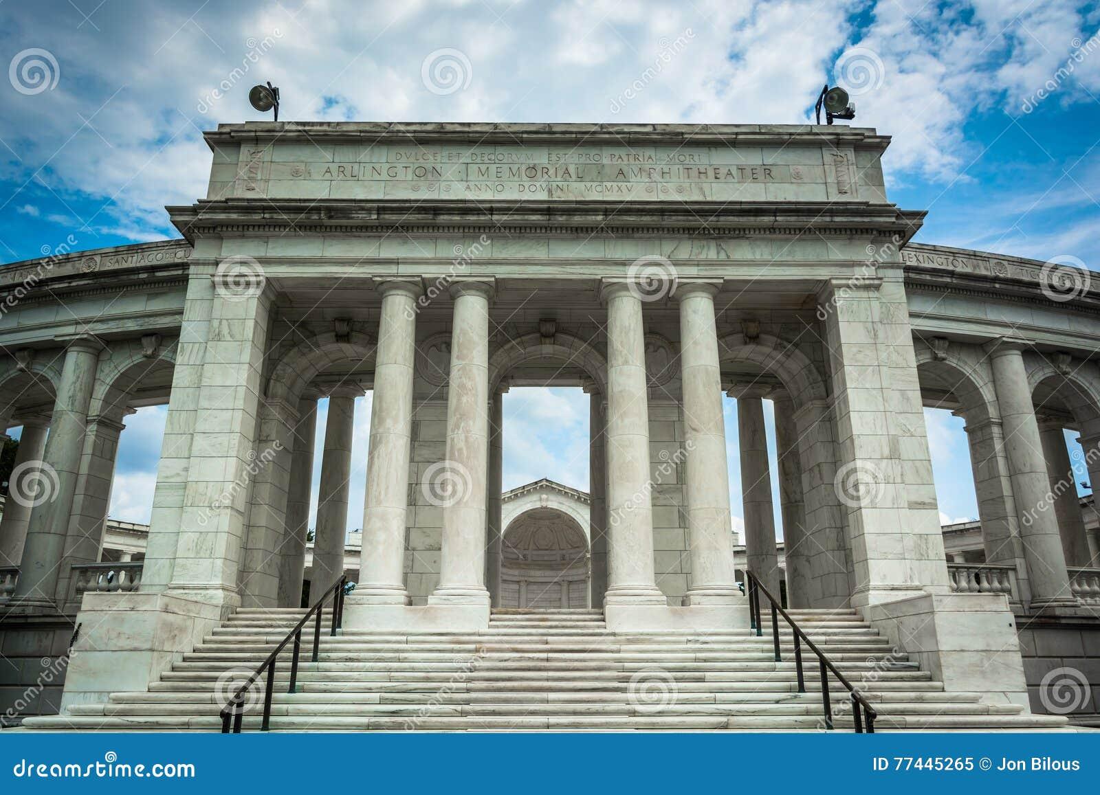 Das Arlington-Erinnerungsamphitheater an Arlington-Staatsangehörigem Cemete