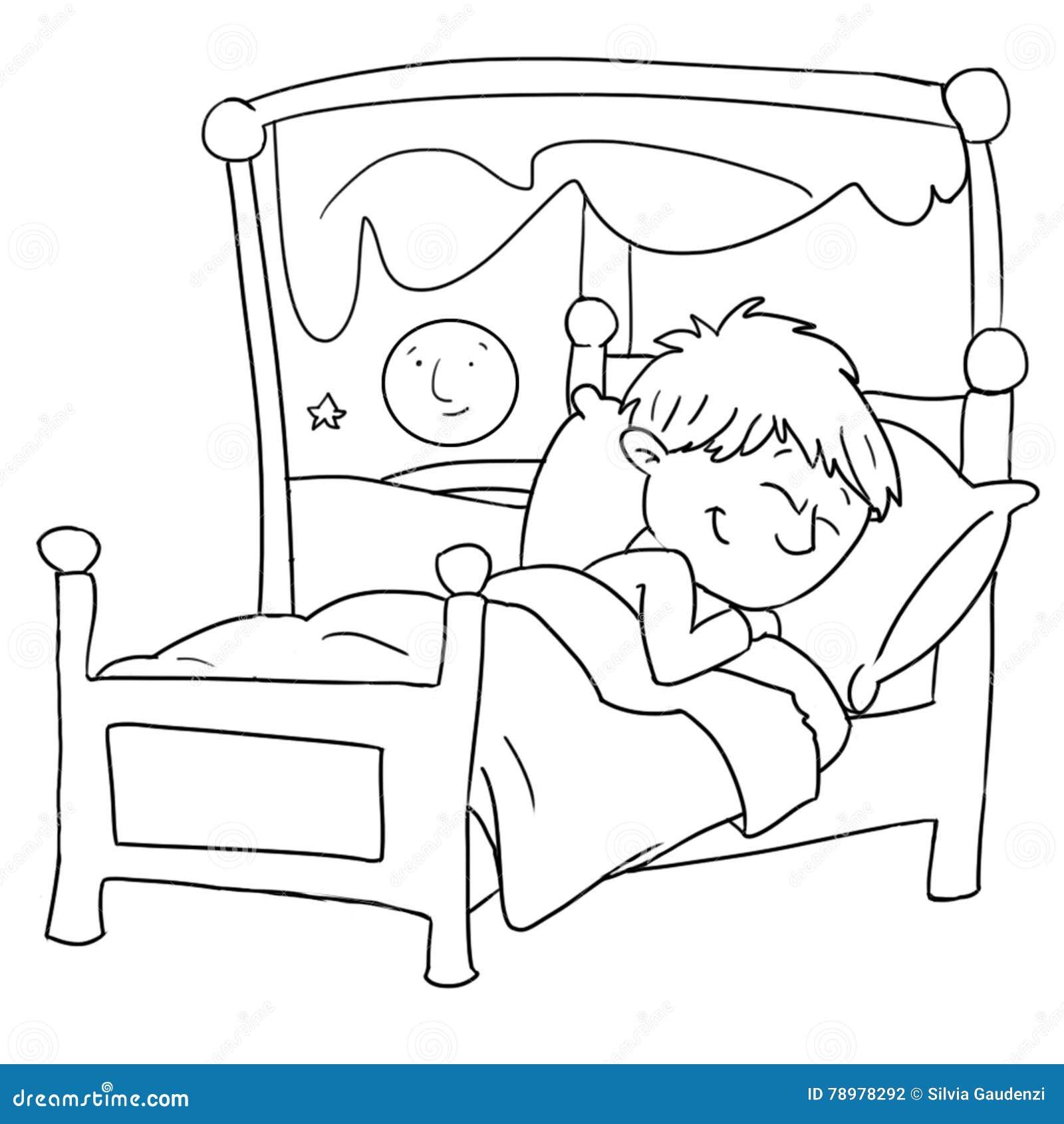 Das Baby Schlaft In Ihrem Bett Das Rippenstuck Das Durch Farbe