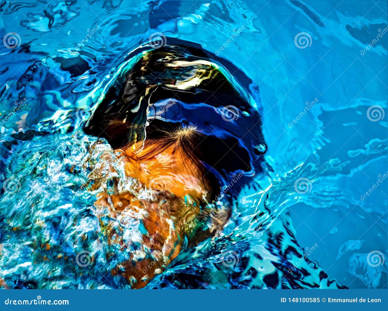 Das Bild bildete sich durch das Wasser