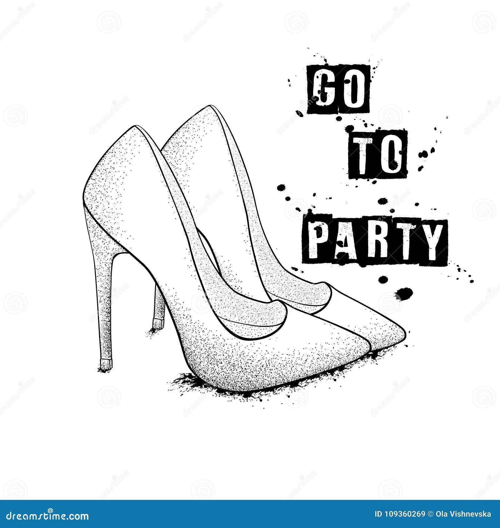 Das Bild Der Stilvollen Schuhe Der Mode Gehen Sie Zur Partei Hand